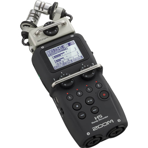 Zoom H5 Handy Recorder Front Angle
