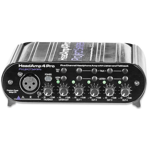 ART HeadAmp4Pro - 4-Channel Headphone Amp  with talkback function