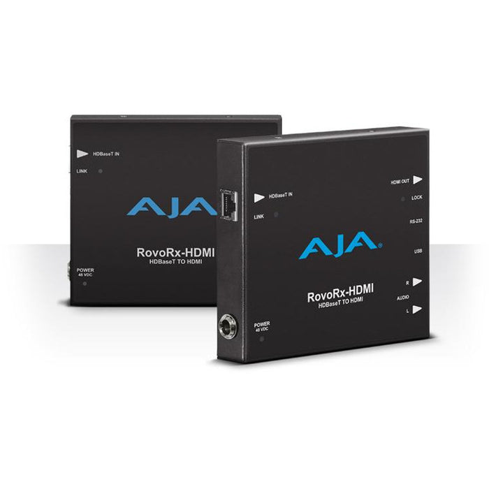 Aja ROVORX-HDMI - HDBaseT to HDMI (w/PoH), also facilitates power/display/control/interface to RovoCam