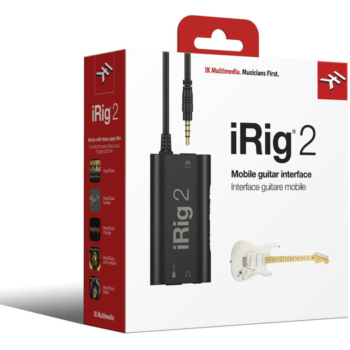 IK Multimedia iRig 2 - Guitar/Bass interface for iOS & Android