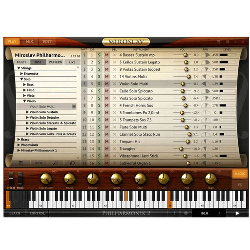 IK Multimedia Miroslav Philharmonik 2 - 55GB Virtual Orchestral Instrument