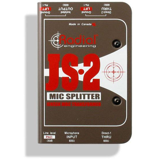 Radial JS2 - Jensen Transformer equipped mic signal splitter
