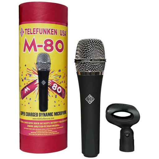 Telefunken M80 - Dynamic Mic with Leather Carry Case and Mic Clip