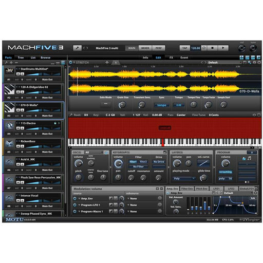 MOTU MachFive 3 - Software Sampling Engine For Mac