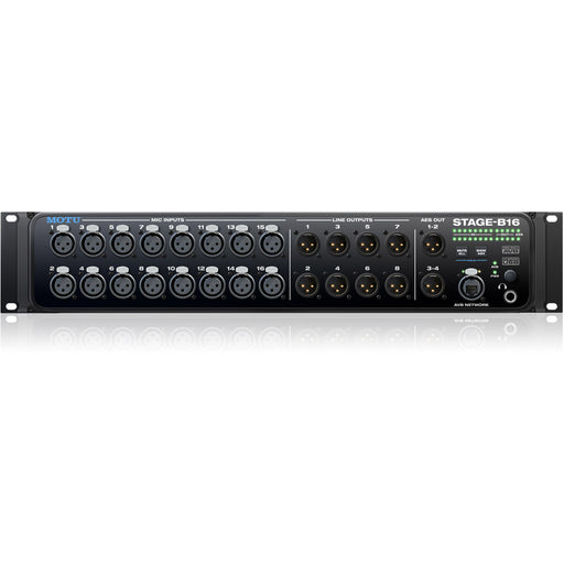 MOTU Stage-B16 - 16-Input Stage Box and Audio Interface with DSP & Mixing Front
