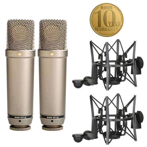 Rode NT1A MP Matched Pair Studio Cardioid Condenser Microphone