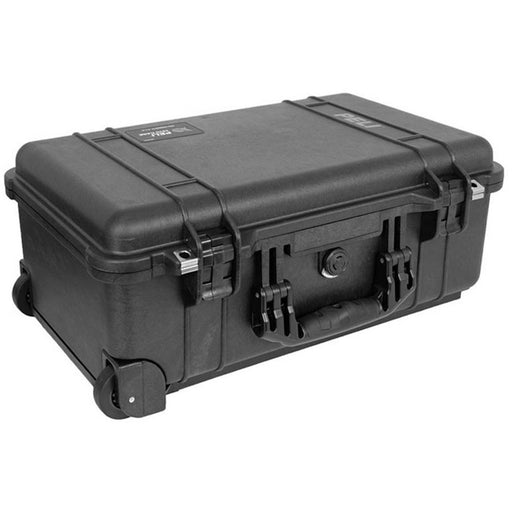 Peli 1510 - Case with foam, black, Inc wheels & extendable handle, int dim 514 x 288 x 191 mm