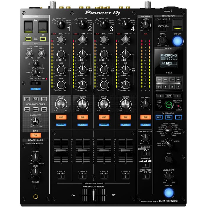 Pioneer DJM-900NXS2 - 4 Channel Pro Grade High End Digital Mixer