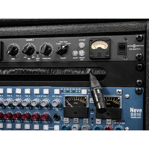 Studiocare 1U Rack Panel Slotted for Cable Entry with Brushes