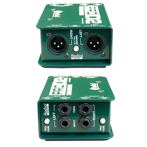 Radial Engineering Pro D2 - Compact Passive DI Box (Stereo)