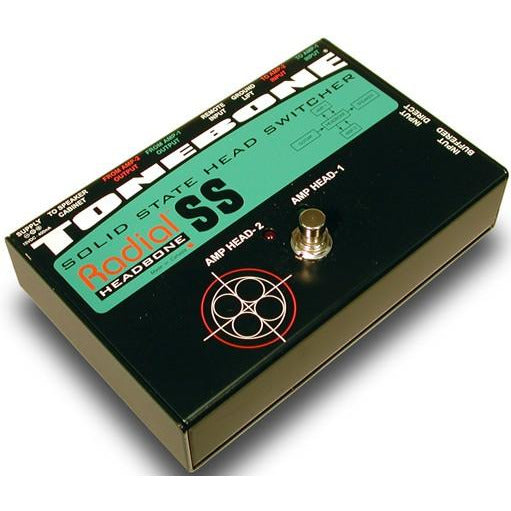 Radial Engineering ToneBone Headbone SS - Guitar Amp Head Switcher for 2 Solid State Amps