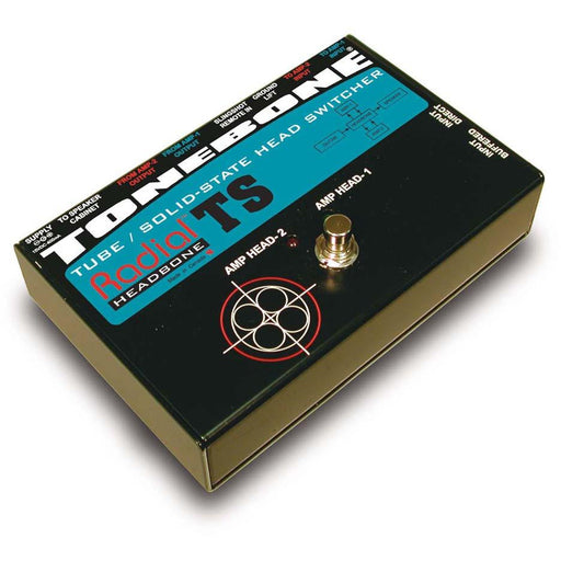 Radial Engineering ToneBone Headbone TS - Guitar Amp Head Switcher for 1 Tube & 1 Solid State Amp