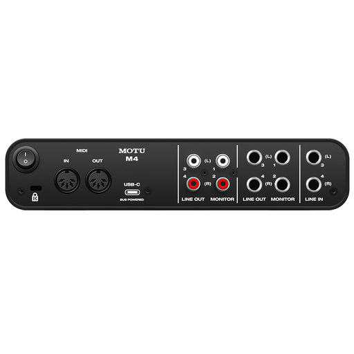 MOTU M4 USB C 4x4 Audio & Midi Interface