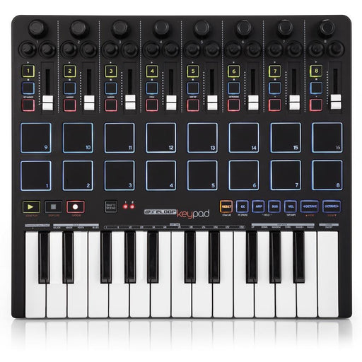 Reloop KeyPad - MIDI Controller with Pads, Faders & Keyboard. Inc. Ableton Live 9 Lite