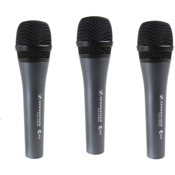 Sennheiser Evolution E835 3 Pack - Cardioid Vocal Stage Microphone