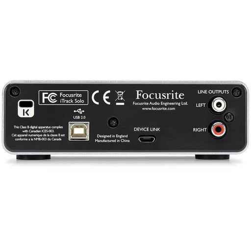 Focusrite iTrack Solo Lightning - Audio interface for iPad, PC and Mac