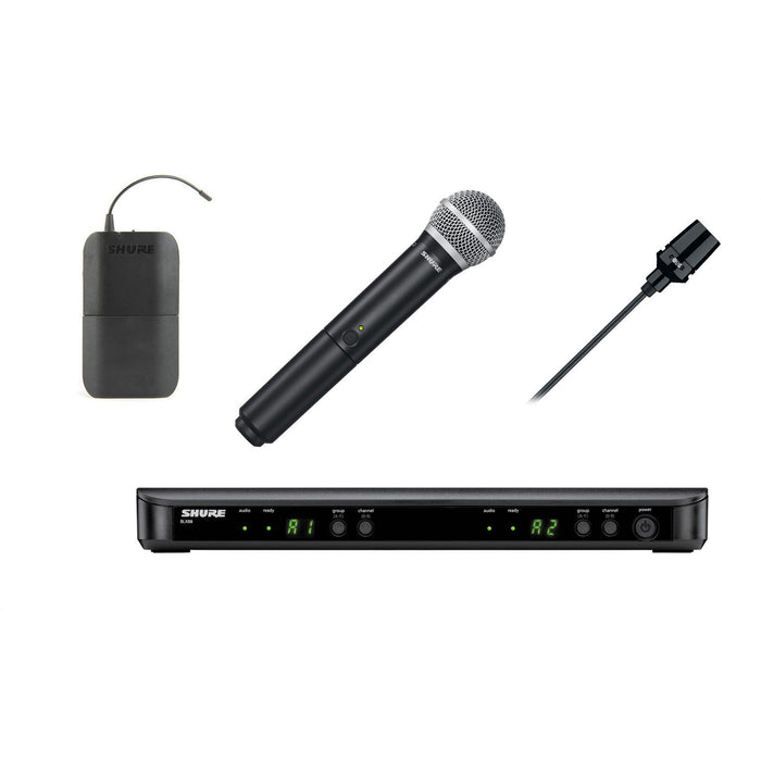 Shure BLX1288UK/CVL - Wireless System with CVL-B/C Lavalier and PG58 Handheld Transmitter