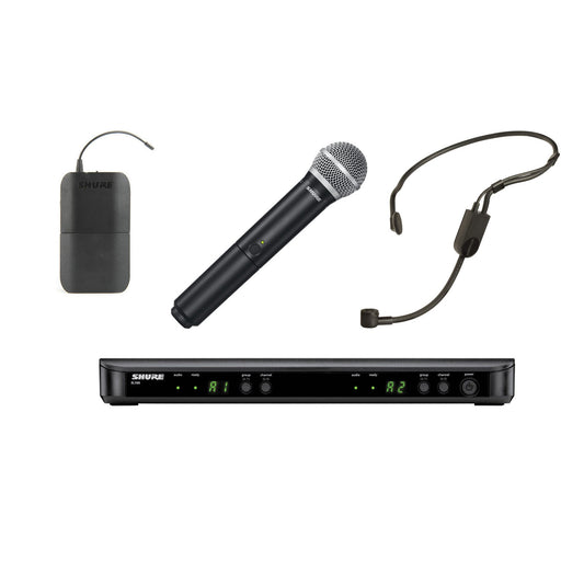 Shure BLX1288UK/P31 - Wireless System with PGA31 Headset & PG58 Handheld Transmitter