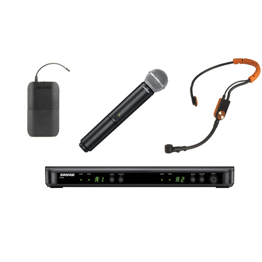 Shure BLX1288UK/SM31 - Wireless System with SM31FH Headset & SM58 Handheld Transmitter