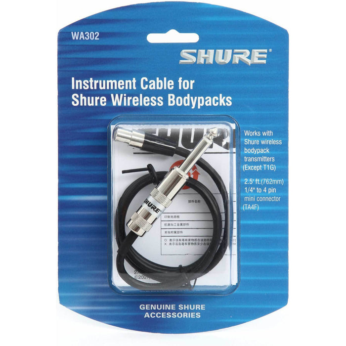 Shure BLX14UK - Bodypack System with WA302 Instrument Cable