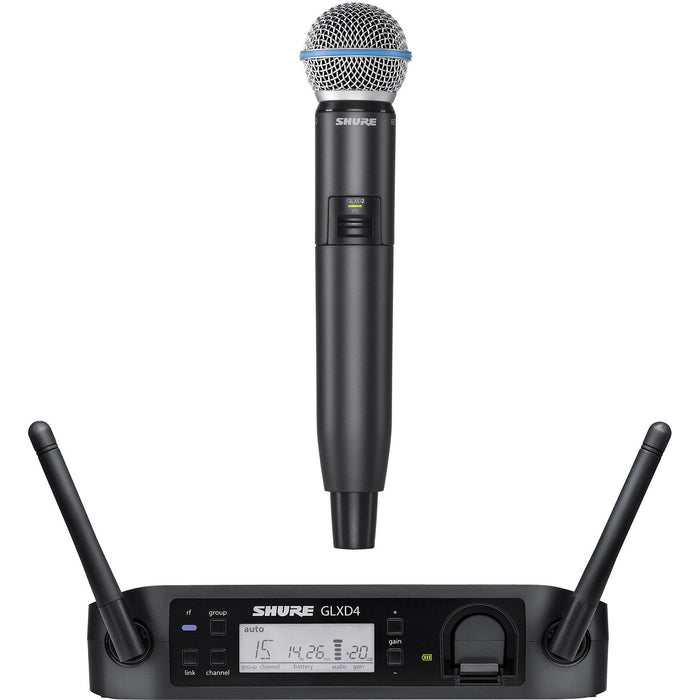 Shure GLXD24UK/SM86 - Digital Wireless Vocal System with SM86 Handheld Transmitter