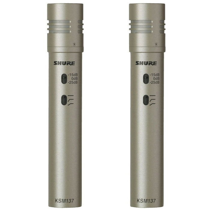 Shure KSM137/SL Stereo - Stereo Pair of Cardioid Condenser Instrument Mics