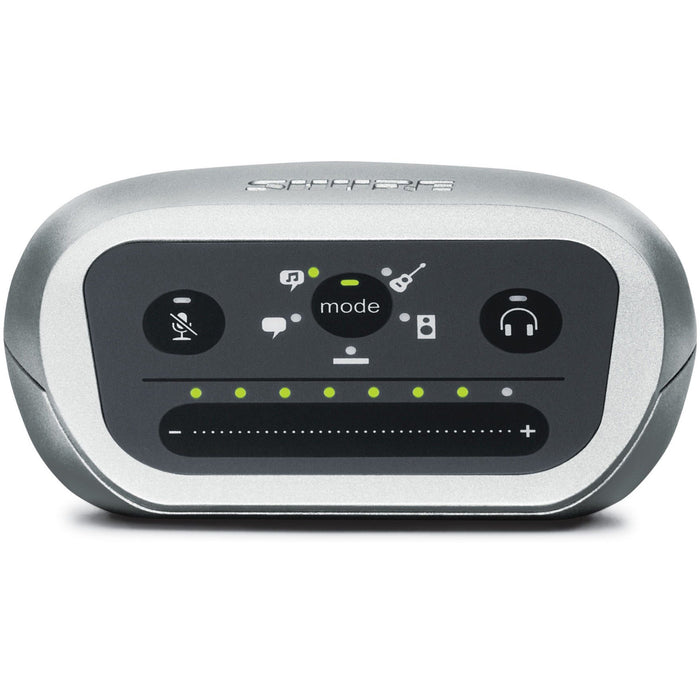 Shure Motiv MVi - Digital Audio Interface featuring Five Built-in DSP Preset Modes Front