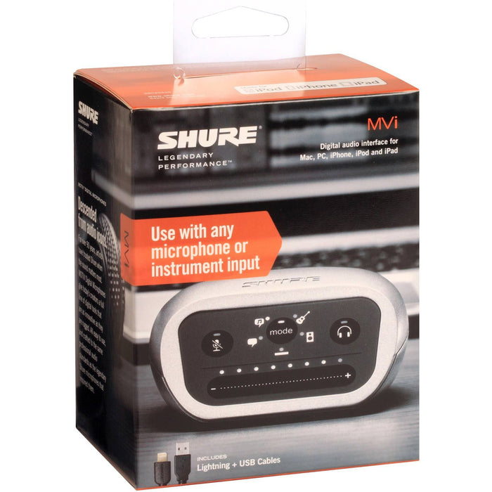 Shure Motiv MVi - Digital Audio Interface featuring Five Built-in DSP Preset Modes