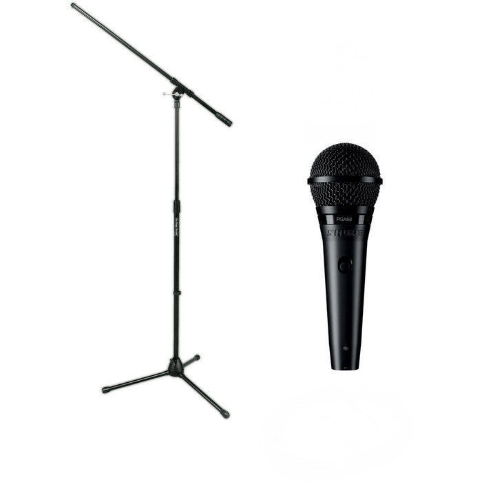Shure PGA58-BTS - Dynamic Vocal Microphone with XLR Cable & Tripod Boom Stand