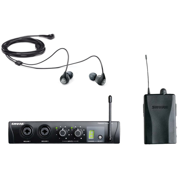 Shure PSM200 - Personal Monitor System Incl. SE112-GR Earphones