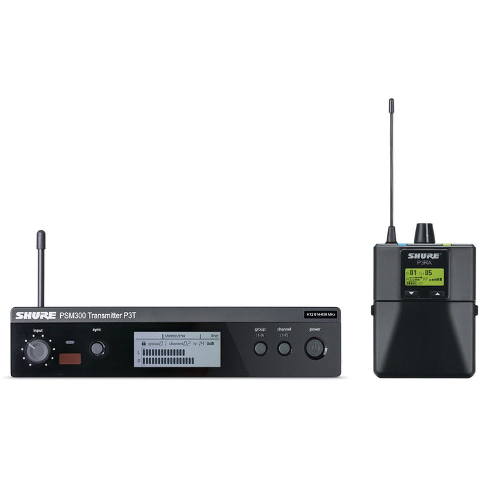 Shure PSM300 P3TR - Premium Wireless Personal Monitor System (Metal Receiver)