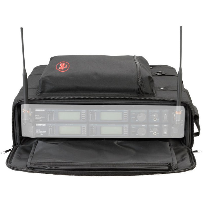 SKB SC192U - 2U Soft Rack Case Front (Units/Antennas not included)