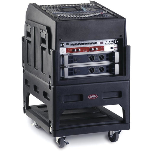 SKB Gig Rig R1406 - Gig Rig with 14U Incl. top 6U front rack, built-in pedestal, optional rear rack rails