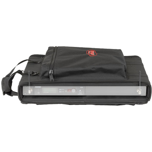 SKB SC191U - 1U Soft Rack Case Front (Wireless unit not included)