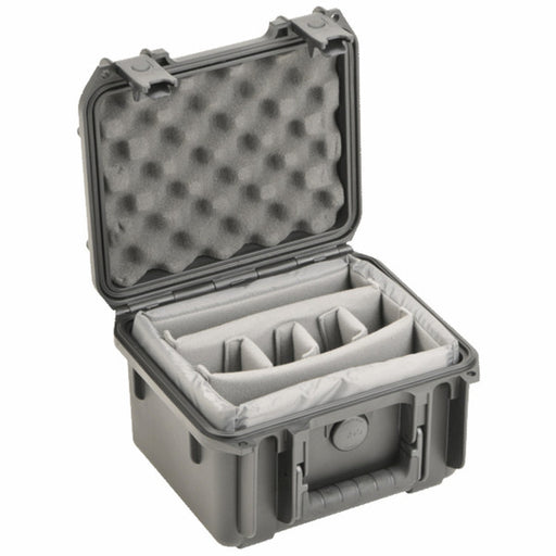 SKB 3I-0907-6BDD - Injection Moulded Case with mini-latch, two layers of dividers for 6 mics
