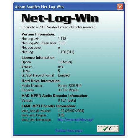 Sonifex Net-Log-G729