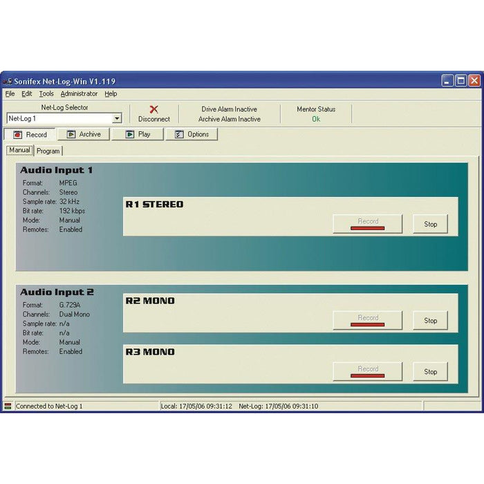 Sonifex Net-Log-Win05-UP - Net-Log-Win Windows Software - 2 to 5 Stream License Upgrade