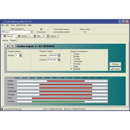 Sonifex Net-Log-Win05-UP