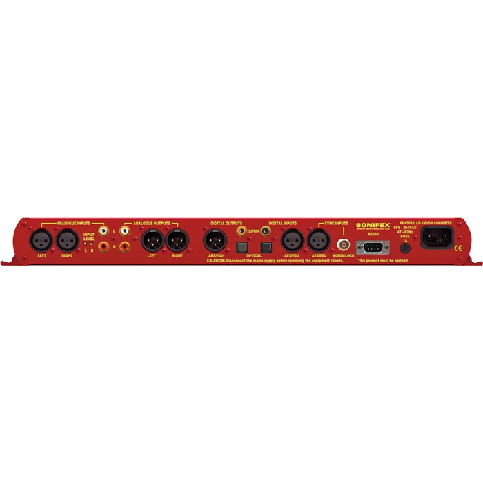 Sonifex RB-ADDA2 - Combined A/D and D/A Converter (24 bit, 192kHz Capable) (1U)
