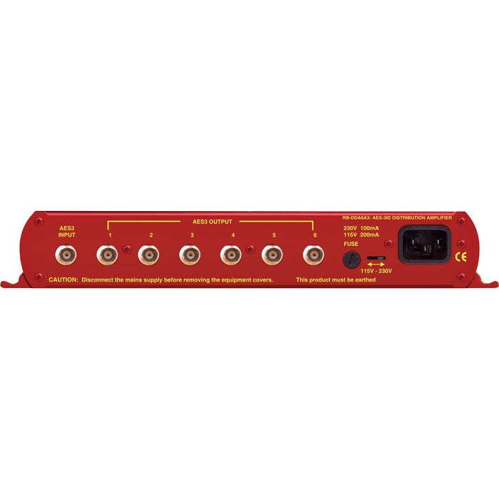 Sonifex RB-DDA6A3 - 6 Way Stereo AES3ID Digital Distribution Amplifier