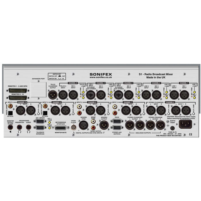 Sonifex S1 - S1 Radio Broadcast Mixer, 10 Channel Analogue\Digital
