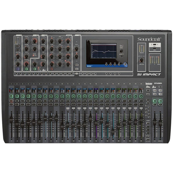 Soundcraft Si Impact - 40-input Digital Mixing Console and 32-in/32-out USB Interface and iPad Control Top