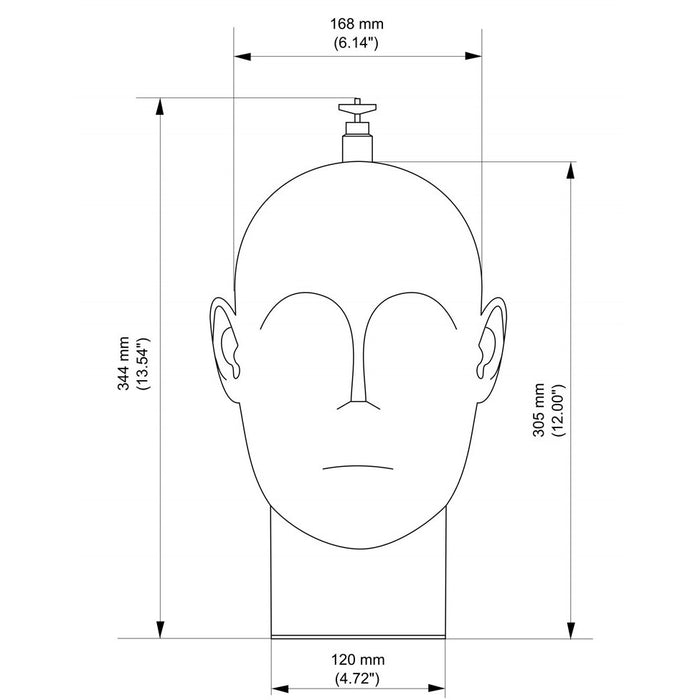 Binaural Enthusiast B1-E Dummy Head with BE-P1 Binaural Microphones + Battery Box