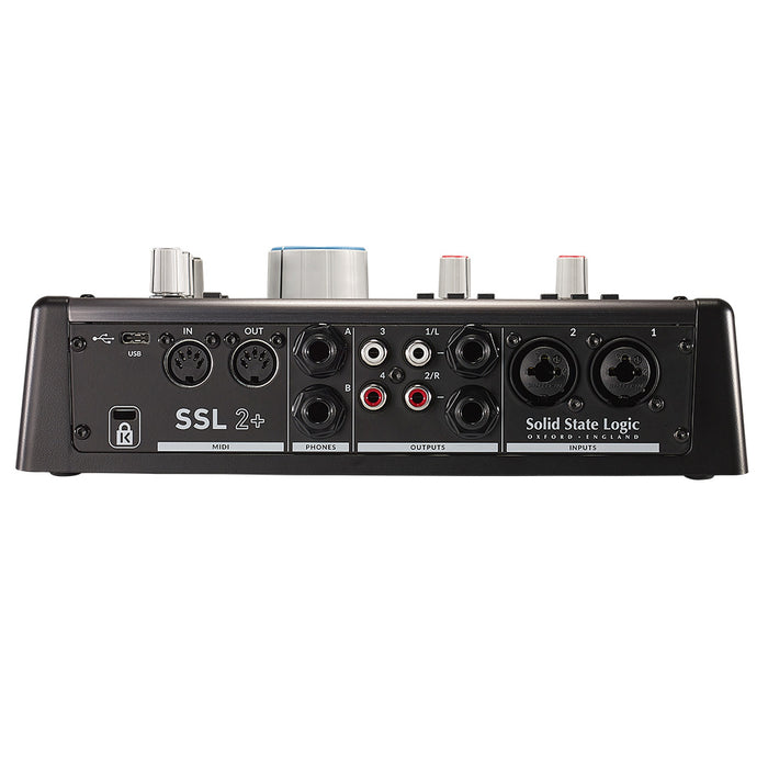 SSL 2+ - 2x4 USB Audio Interface with 2x Headphone Amps & MIDI I/O