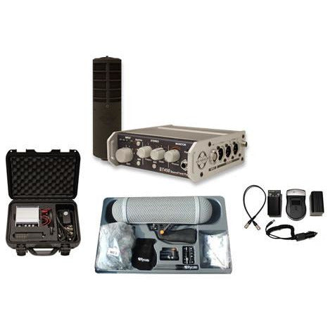 Soundfield ST450 KIT 3 Portable Mic System, Compact Rycote Kit, Battery Kit in Fitted Peli Case