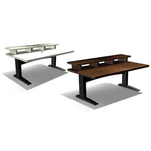 TD Big Bench HA - Height Adjustable Work Station with Top Racks. Available in White and Walnut