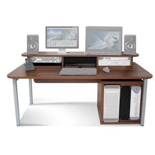 TD Big Bench - Work Station with Top Racks & 12U Rack. Available in White and Walnut