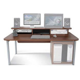 TD Big Bench - Work Station with Top Racks. Available in White and Walnut