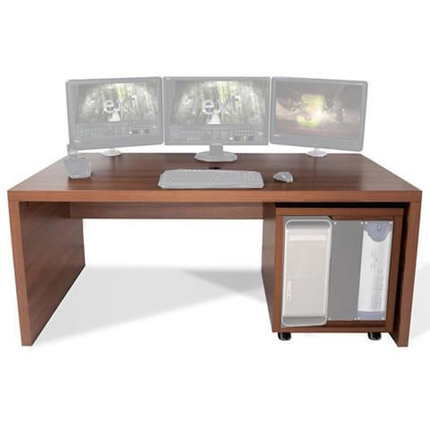 TD Big Slab - Work station with 12U Rack. Available in White & Walnut
