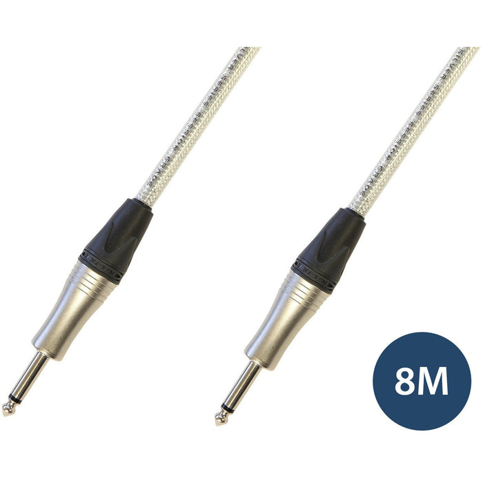 Studiocare Ultra Lo-Cap 8m Silver Core Session Grade Guitar Cable